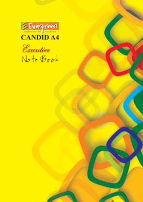 Candid A4 Size Note Book - 400 Pages